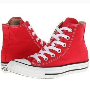 Converse All Star Red High Tops size 6